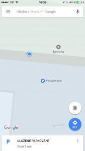 Google Maps parkování