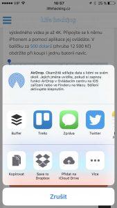 iOS zkopírování a vložení, Univerzální schránka