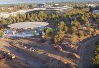 záběry Apple Parku
