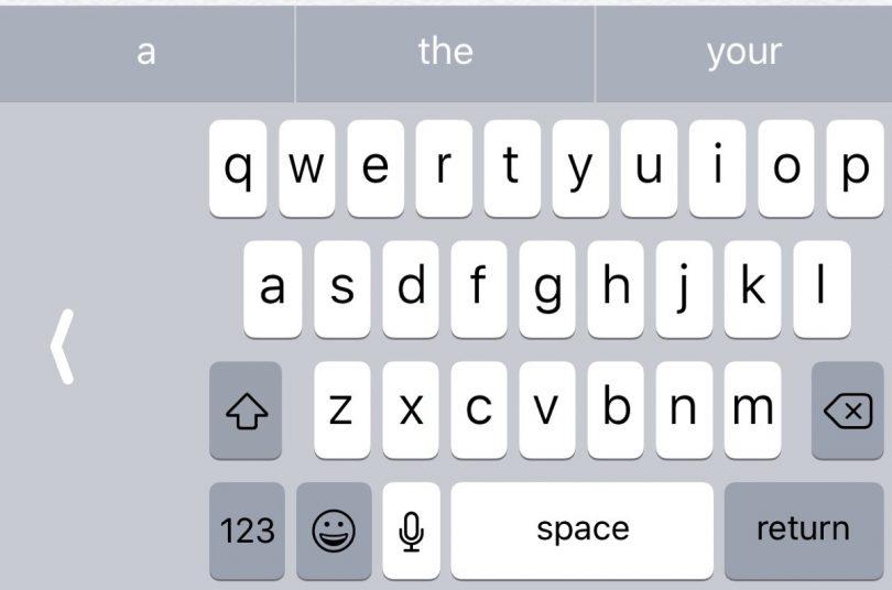 iOS 11 klávesnice