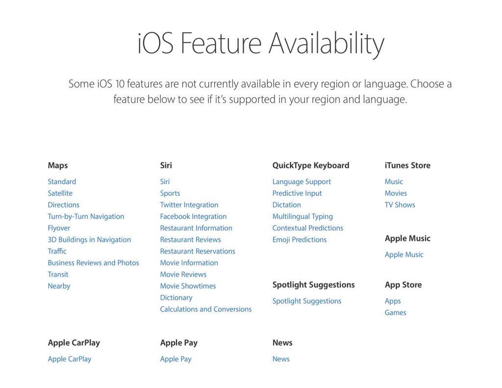 Dostupnost Apple služeb v ČR