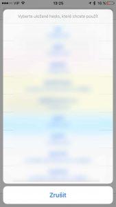 iCloud klíčenka