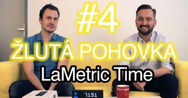 Žlutá pohovka LaMetric Time