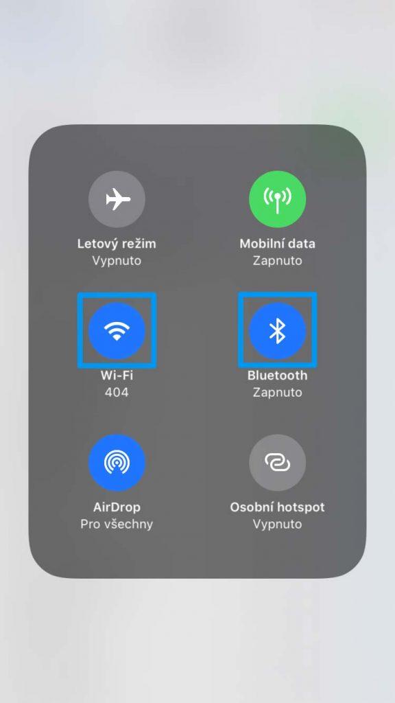 iOS 11 Ovládací centrum