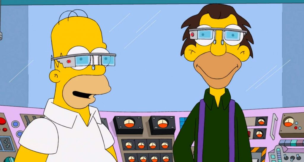Intel Vaunt, Google Glass, Simpsonovi