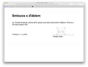 Podpis PDF na Macu