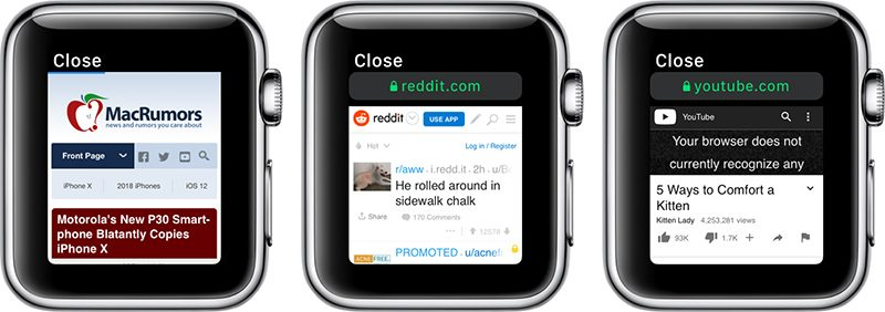 WebKit watchOS 5 Apple Watch