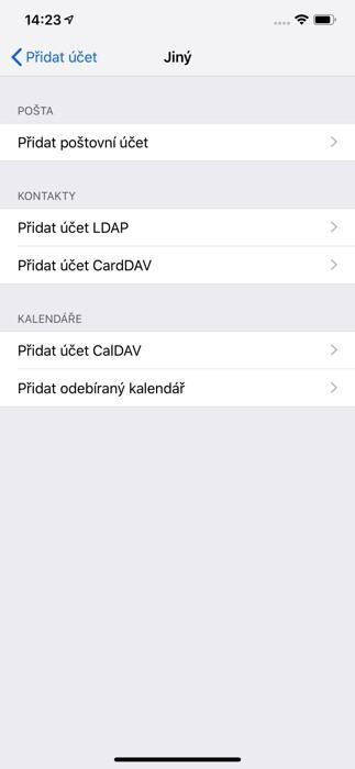 Seznam email iPhone